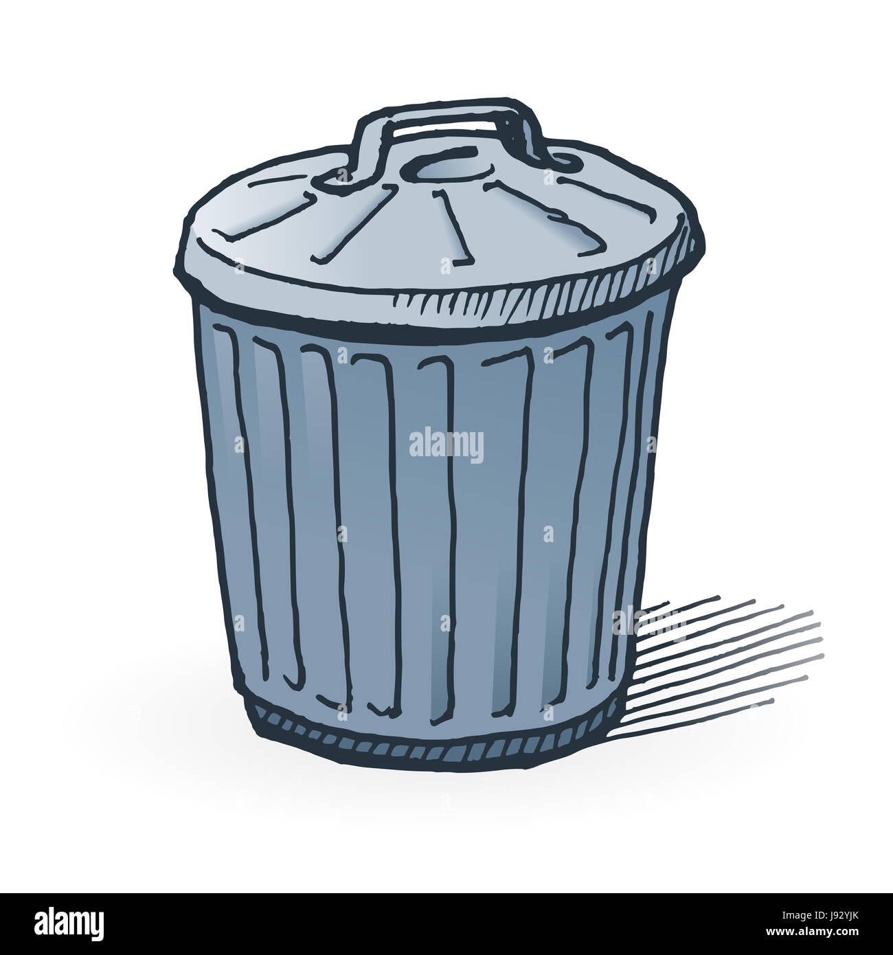 Cartoon Drawing Trash Can High Resolution Stock Photography And