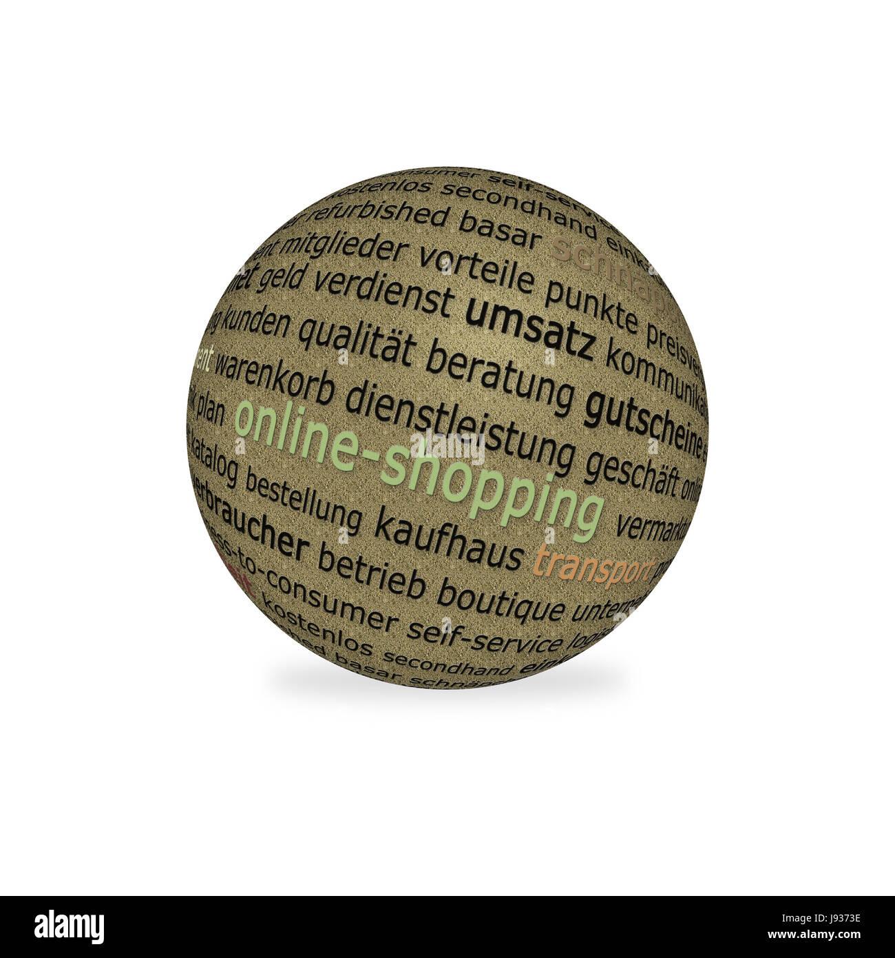 shopping ball - Stock Image