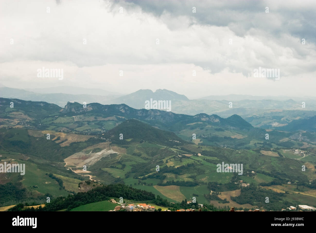hill, cloud, sight, view, outlook, perspective, vista, panorama, lookout, - Stock Image