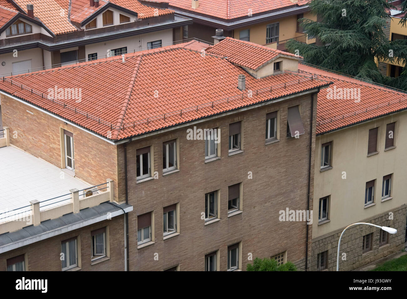 house, building, tree, summer, summerly, outdoor, style of construction, - Stock Image