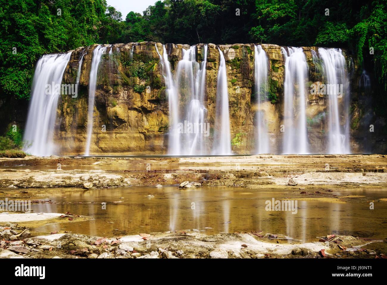 Tinuy An falls also known as mini Niagara falls - Stock Image