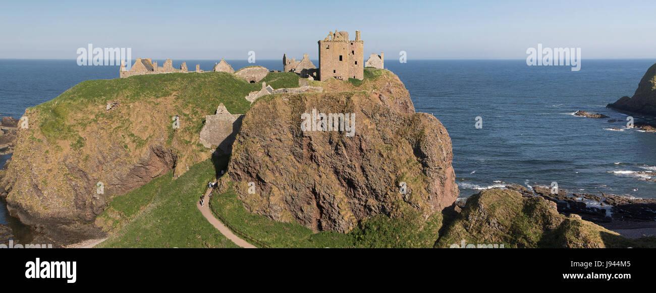 Dunnottar Castle, Stonehaven, Scotland - Stock Image