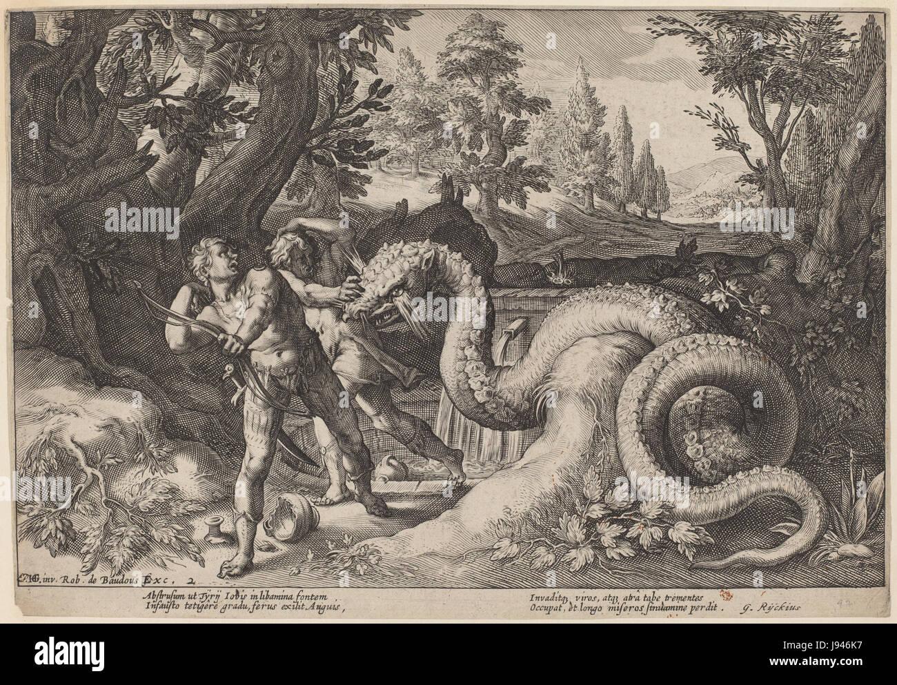 1600ca. Ovid's Metamorphoses   etching   Washington DC, NGA - Stock Image