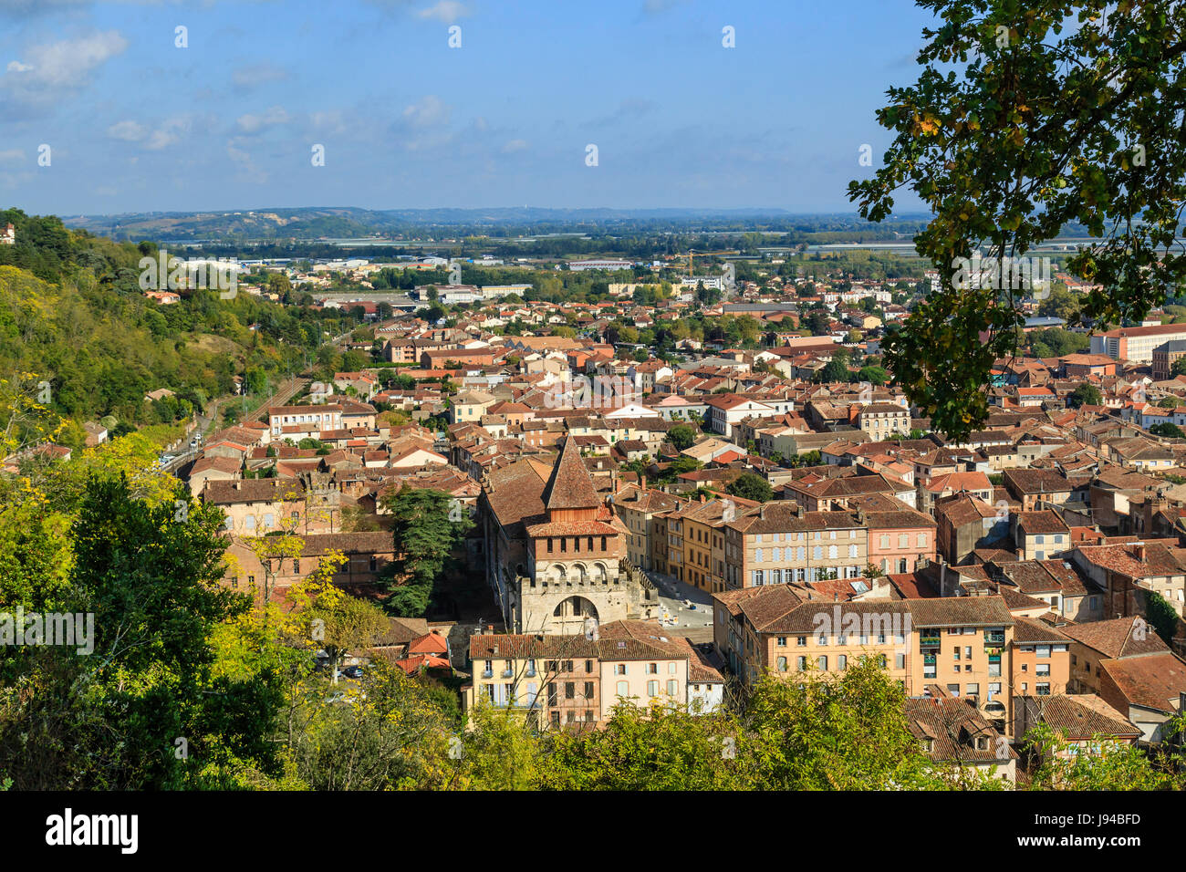 France, Tarn et Garonne, Moissac, general view from the Calvary Site - Stock Image
