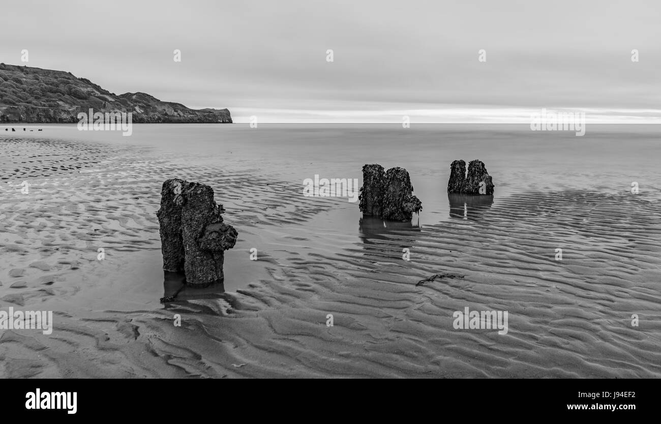 Wonderful Sandsend near Whitby in North Yorkshire - Stock Image