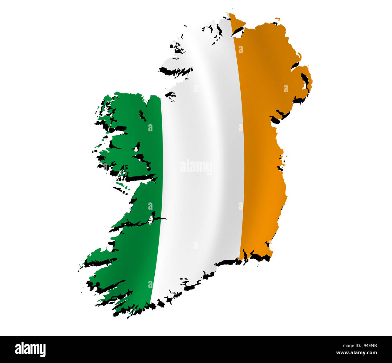 Flag, Border, Outline, Ireland, Atlas, Map Of The World, Map, Detail,  Isolated,