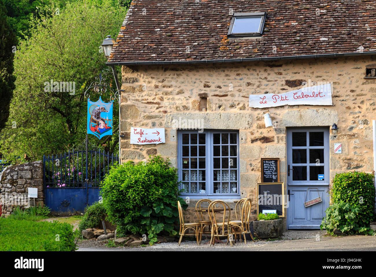 France, Orne, Normandie-Maine Regional Natural Park, Saint-Ceneri-le-Gerei, labelled Les Plus Beaux Villages de - Stock Image