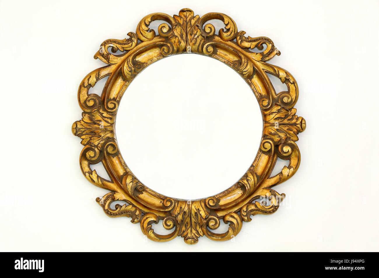 baroque, vintage, retro, decorative, oval, frame, old, gold Stock ...