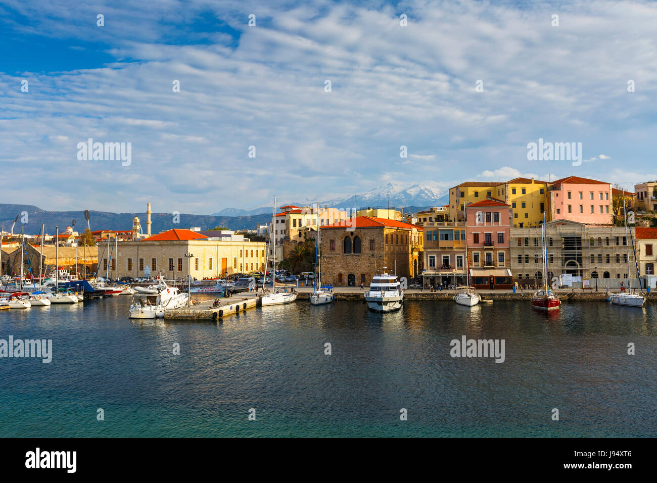 Old town of Chania in Crete, Greece. - Stock Image
