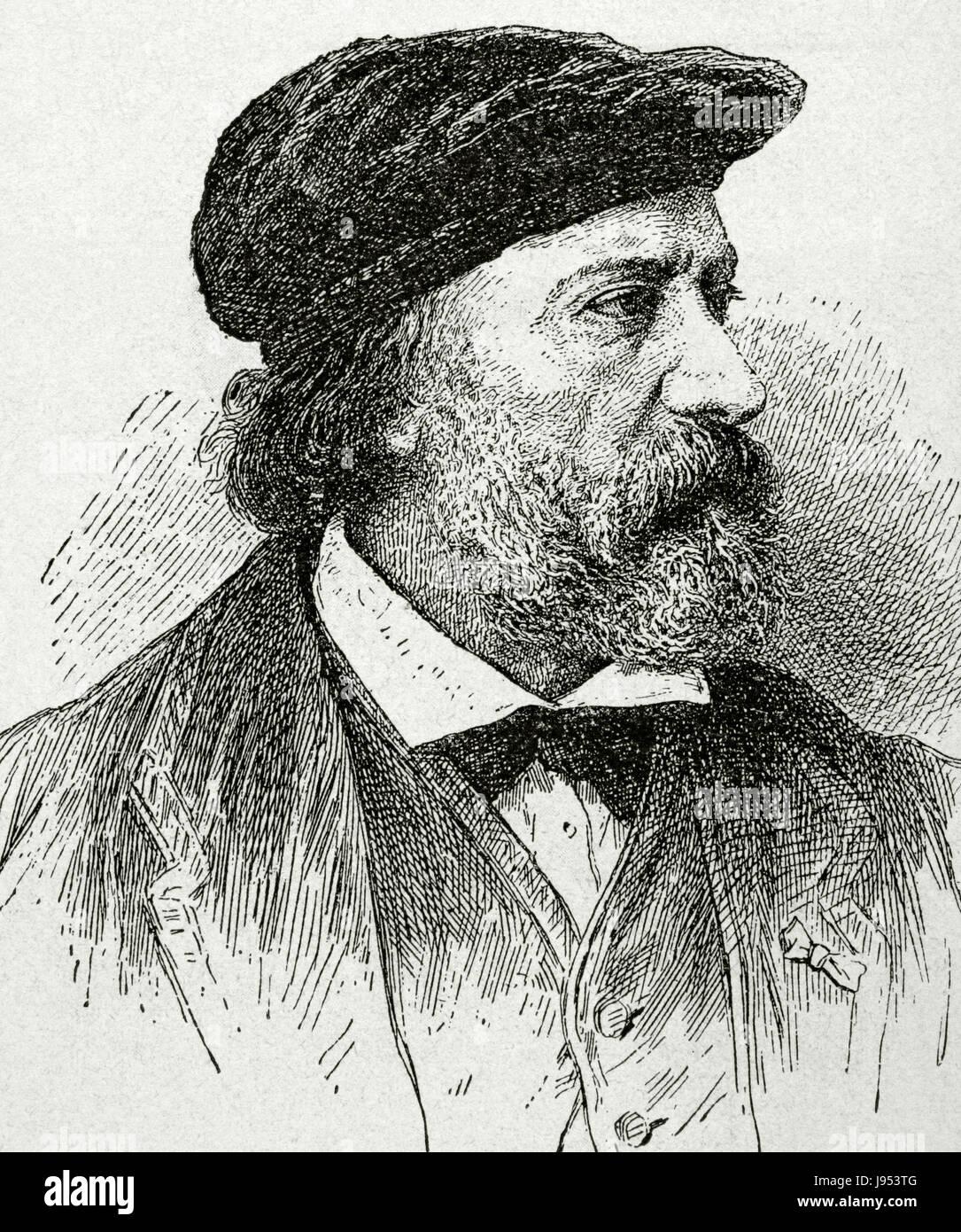 Charles-François Daubigny (1817-1878). French painter. Barbizon school. He is considered an important precursor - Stock Image