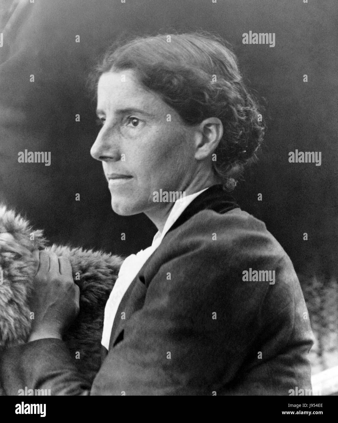 CHARLOTTE GILLMAN (1860-1935) American feminist, writer, and social reformer about 1900 - Stock Image