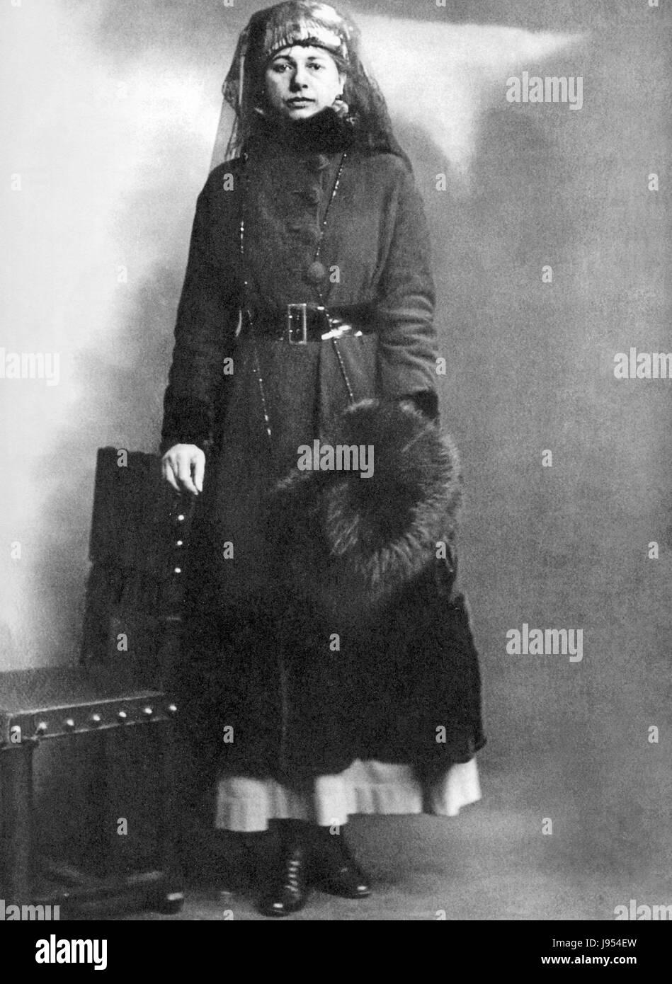 MATA HARI (1876-1917) Dutch dancer and German spy after her arrest in February 1917 - Stock Image