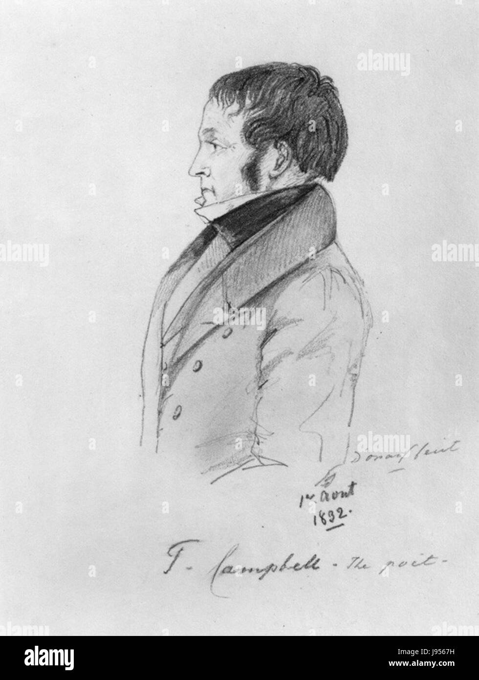 Thomas Campbell by Alfred, Count D'Orsay - Stock Image