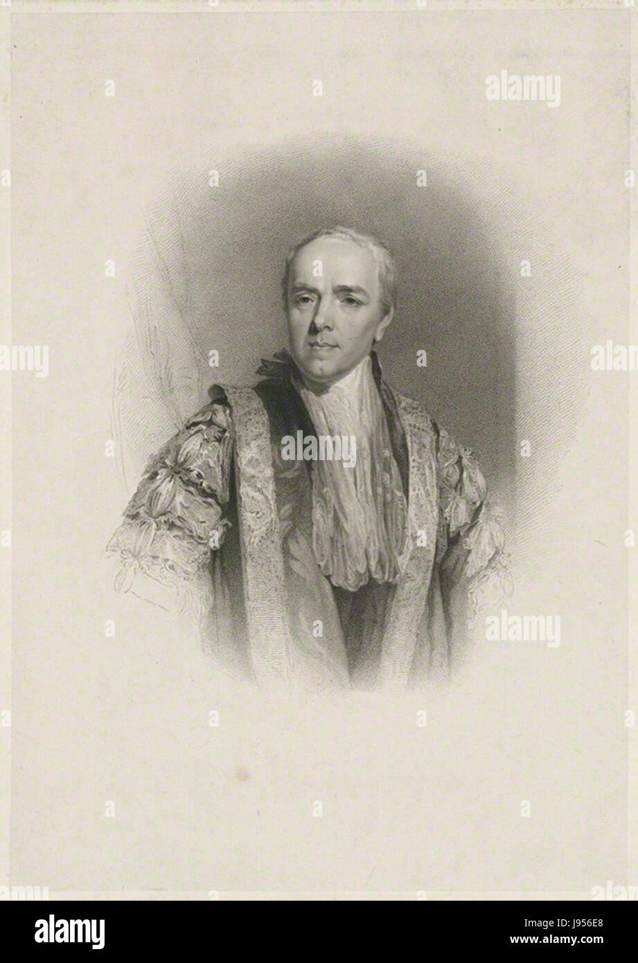William Wyndham Grenville, 1st Baron Grenville by John Samuel Agar, after John Wright, after William Owen - Stock Image