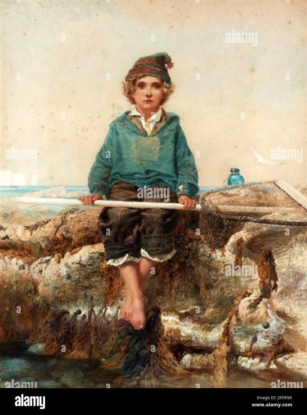 The Little Shrimper by Alfred Downing Fripp - Stock Image