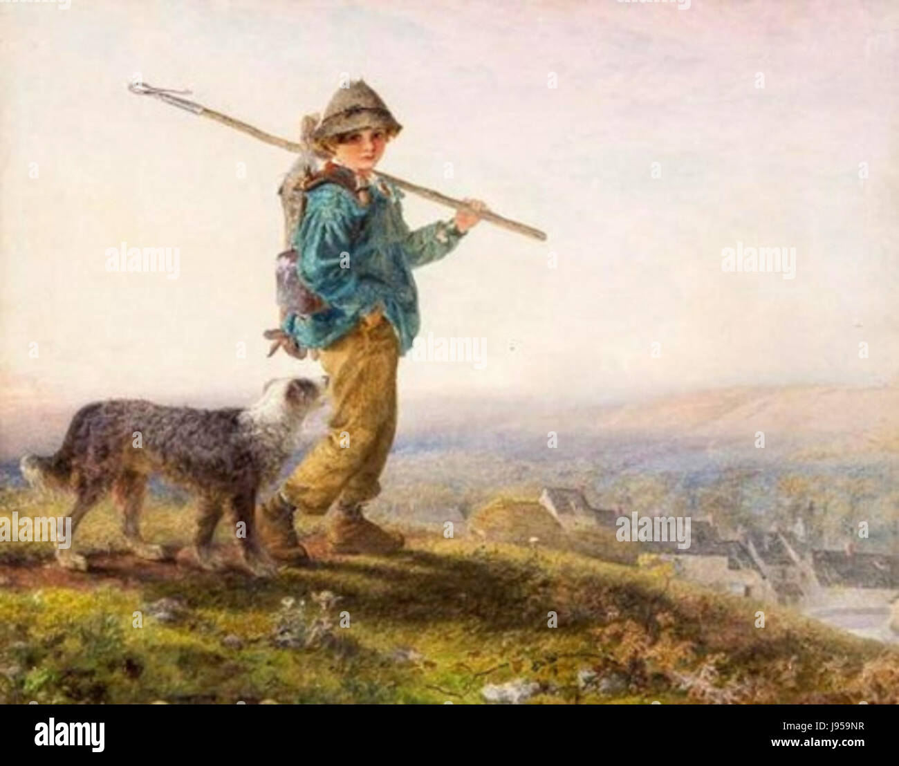 Young Gamekeeper by Alfred Downing Fripp - Stock Image