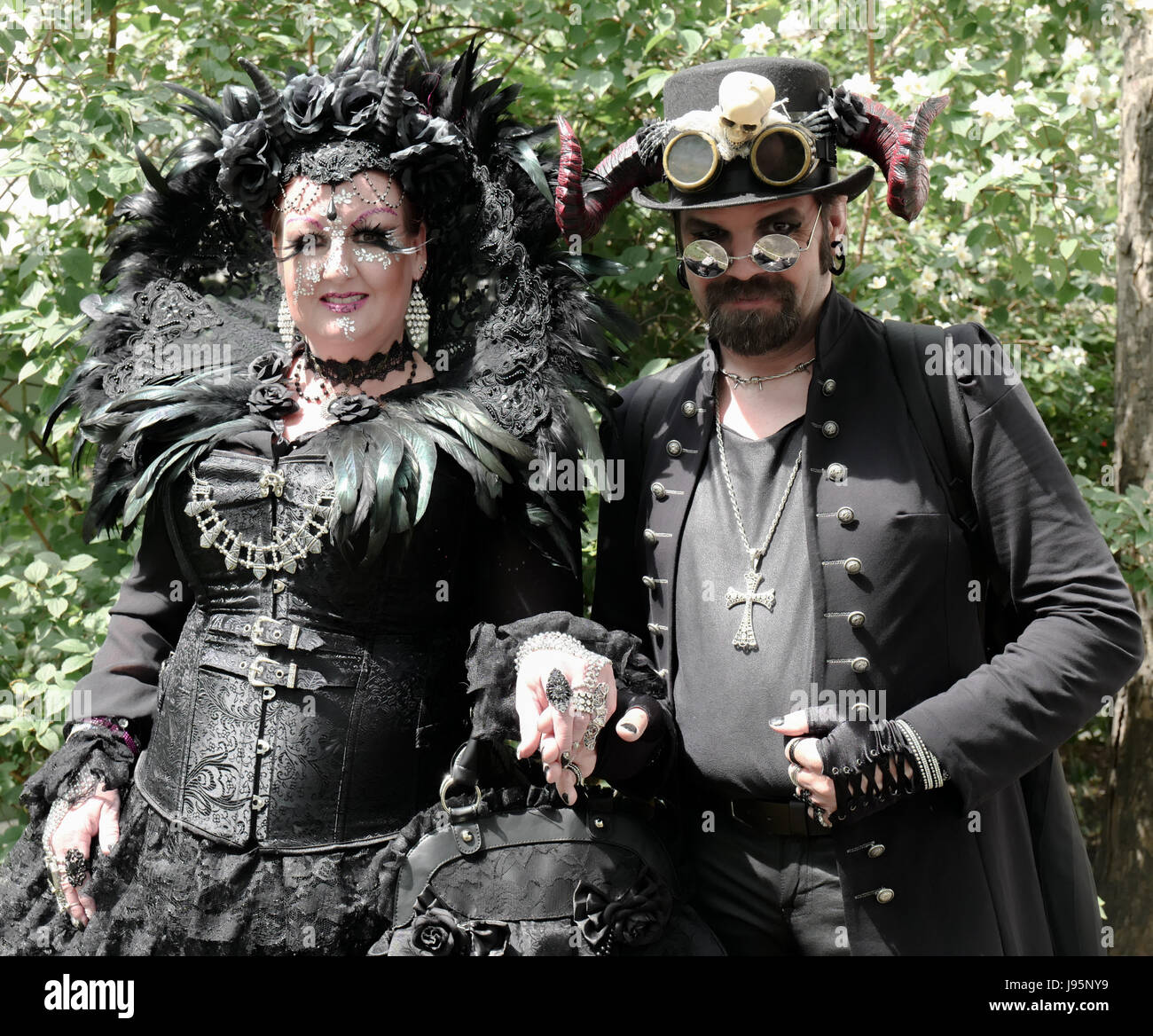 Leipzig Germany 5th June 2017 Participants Of The Wave Gotik Stock Photo Alamy
