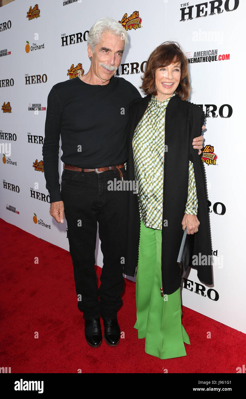 Los Angeles, Ca, USA. 5th June, 2017. Sam Elliott and Anne Archer at the Los Angeles Premiere of The Hero at The - Stock Image
