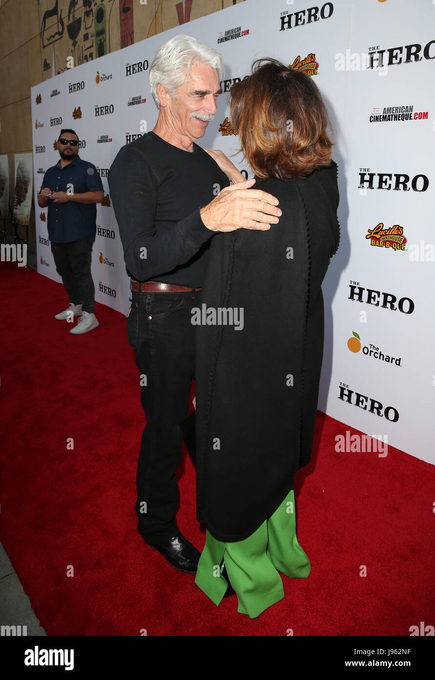 Hollywood, California, USA. 05th June, 2017. Sam Elliott, Anne Archer, at Premiere Of The Orchard's 'The - Stock Image
