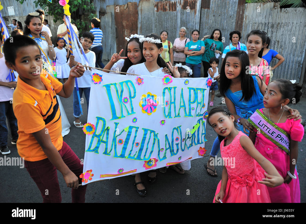 Flores de Mayo Festival end of May Lahug Cebu City Philippines - Stock Image