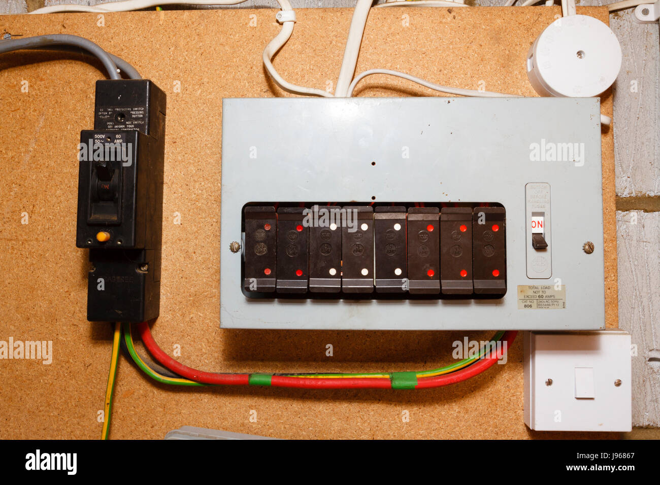 old style electrical fuse box,uk stock photo 143353007 alamy Electrical Box Chart
