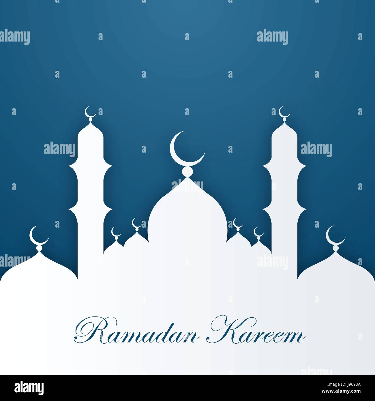 Ramadan Kareem Greeting Card Template Stock Vector Art