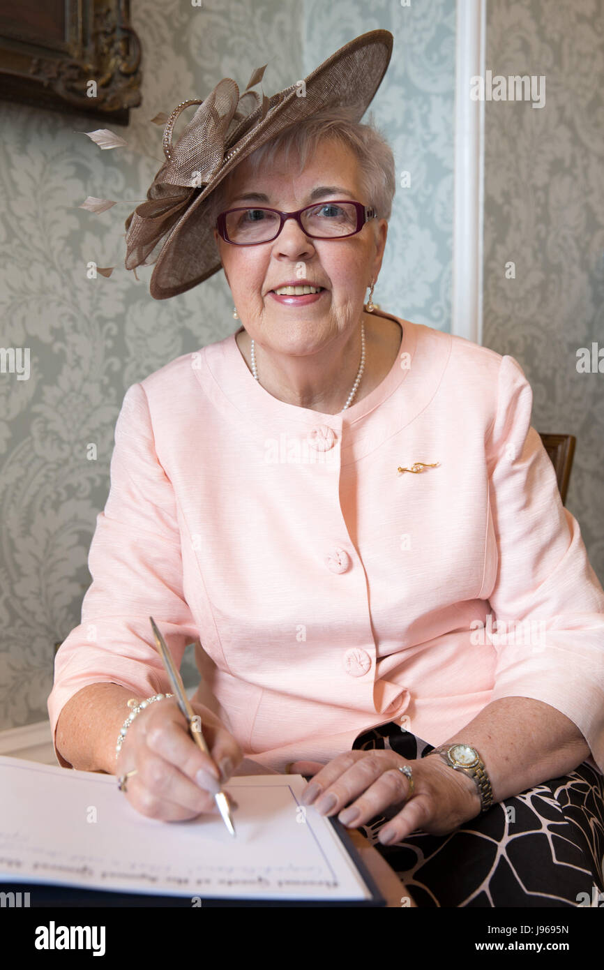 Cllr Anne Underwood pictured shortly before becoming Birmingham Lord Mayor - Stock Image