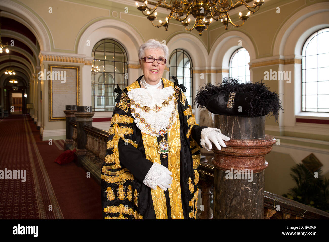 Cllr Anne Underwood becoming Birmingham Lord Mayor - Stock Image