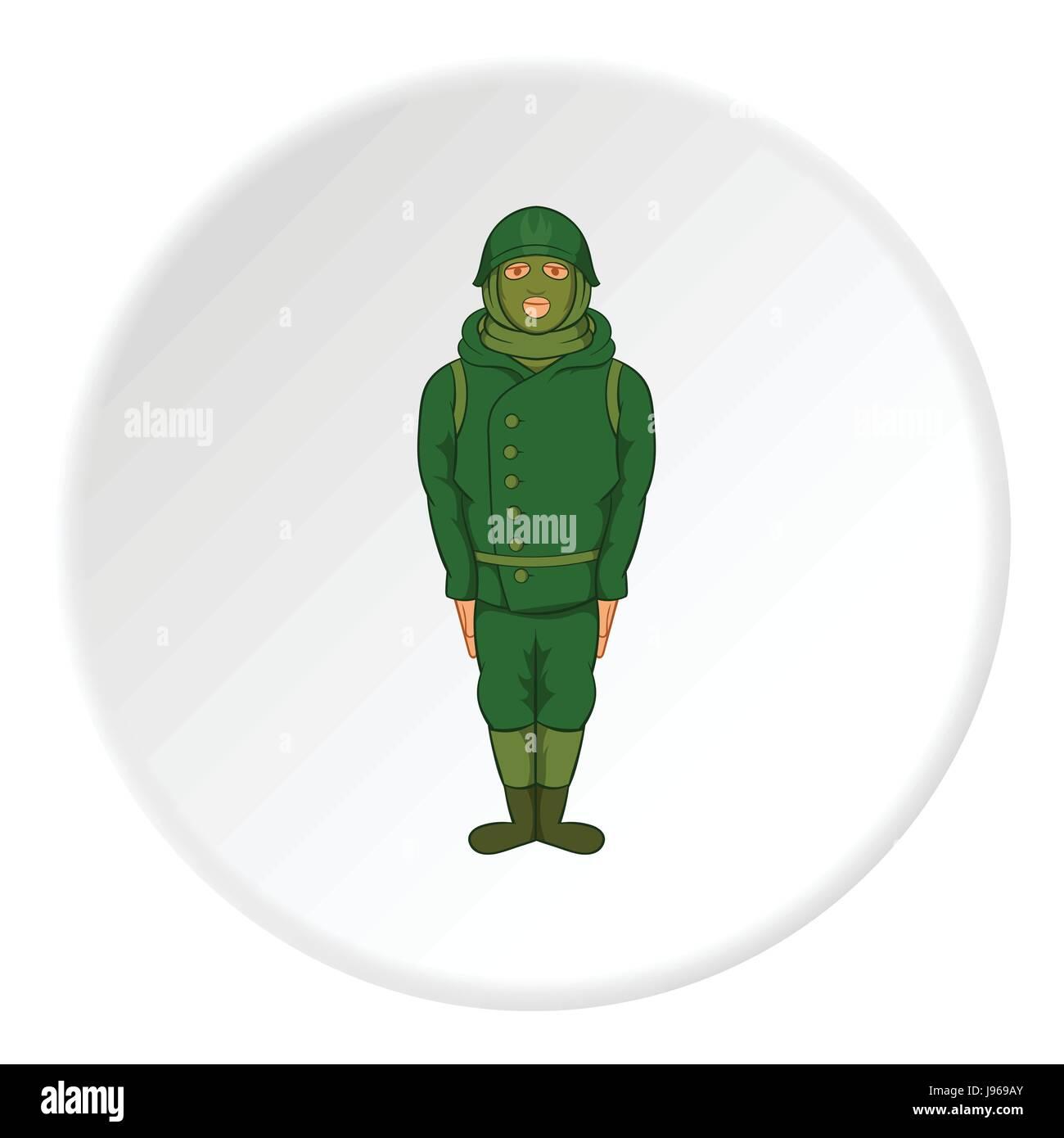 Spy icon, cartoon style  - Stock Image