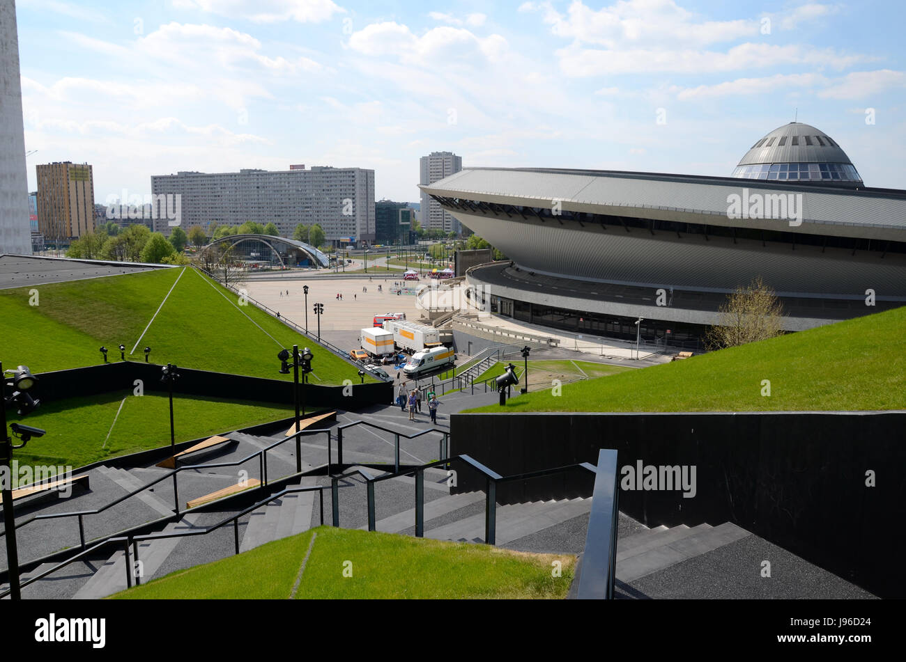 View of the sports hall in Katowice (Poland) - Stock Image