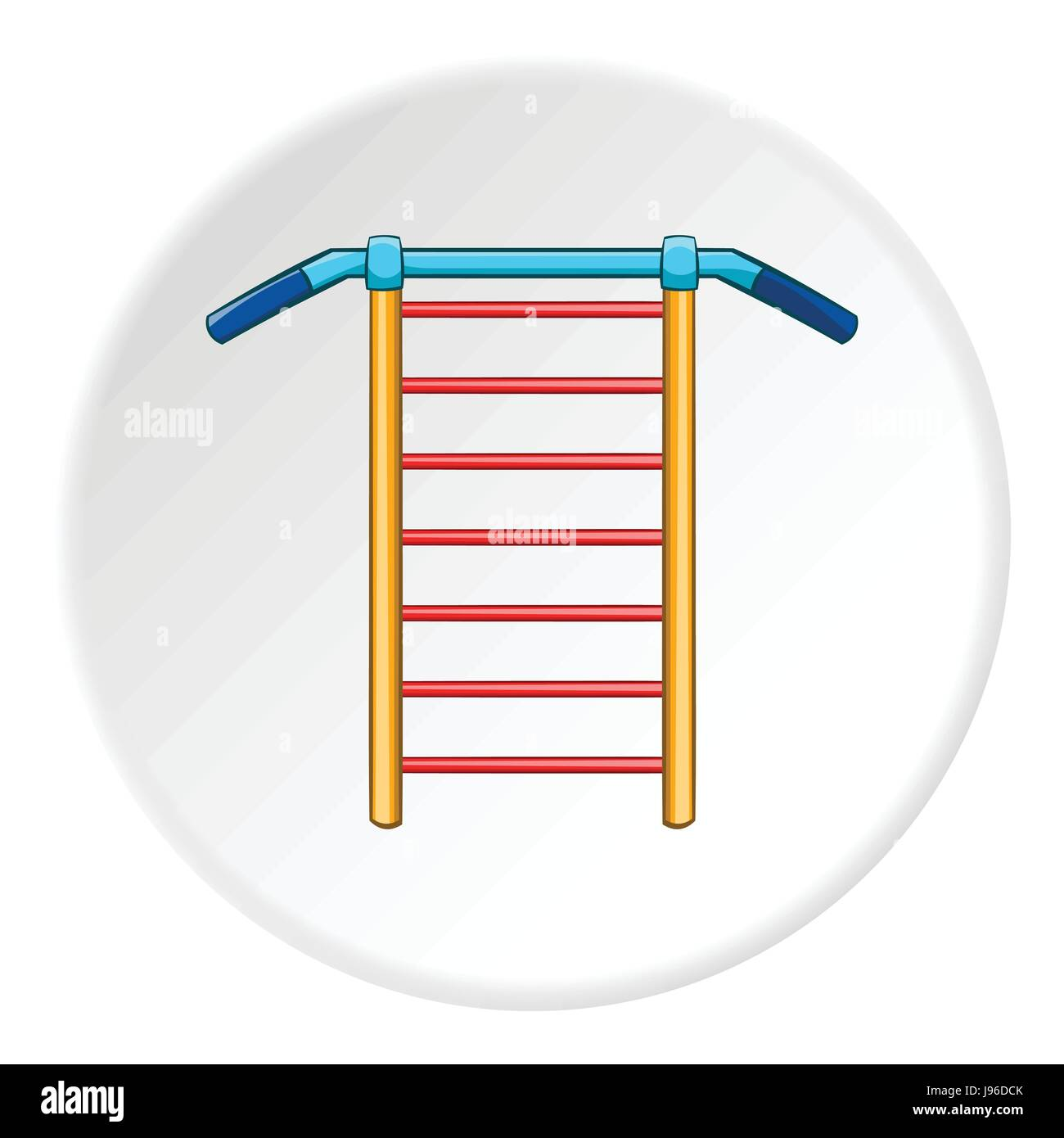 Swedish wall icon, cartoon style - Stock Image