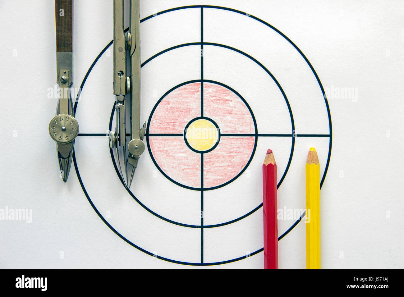 Target and drawing tools - Stock Image