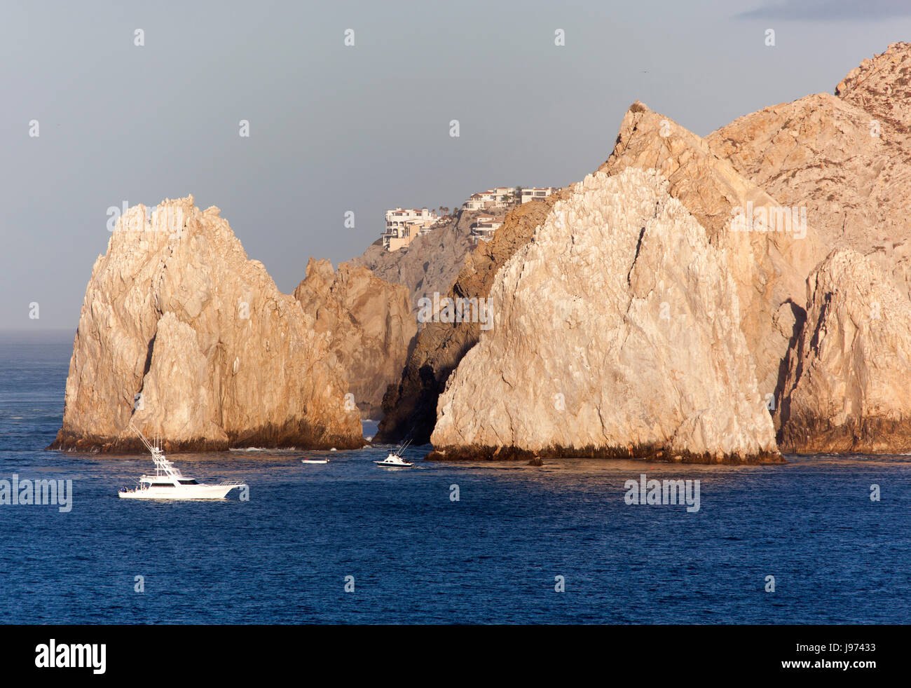 The famous rocks of Cabo San Lucas resort town in a morning light (Mexico). - Stock Image