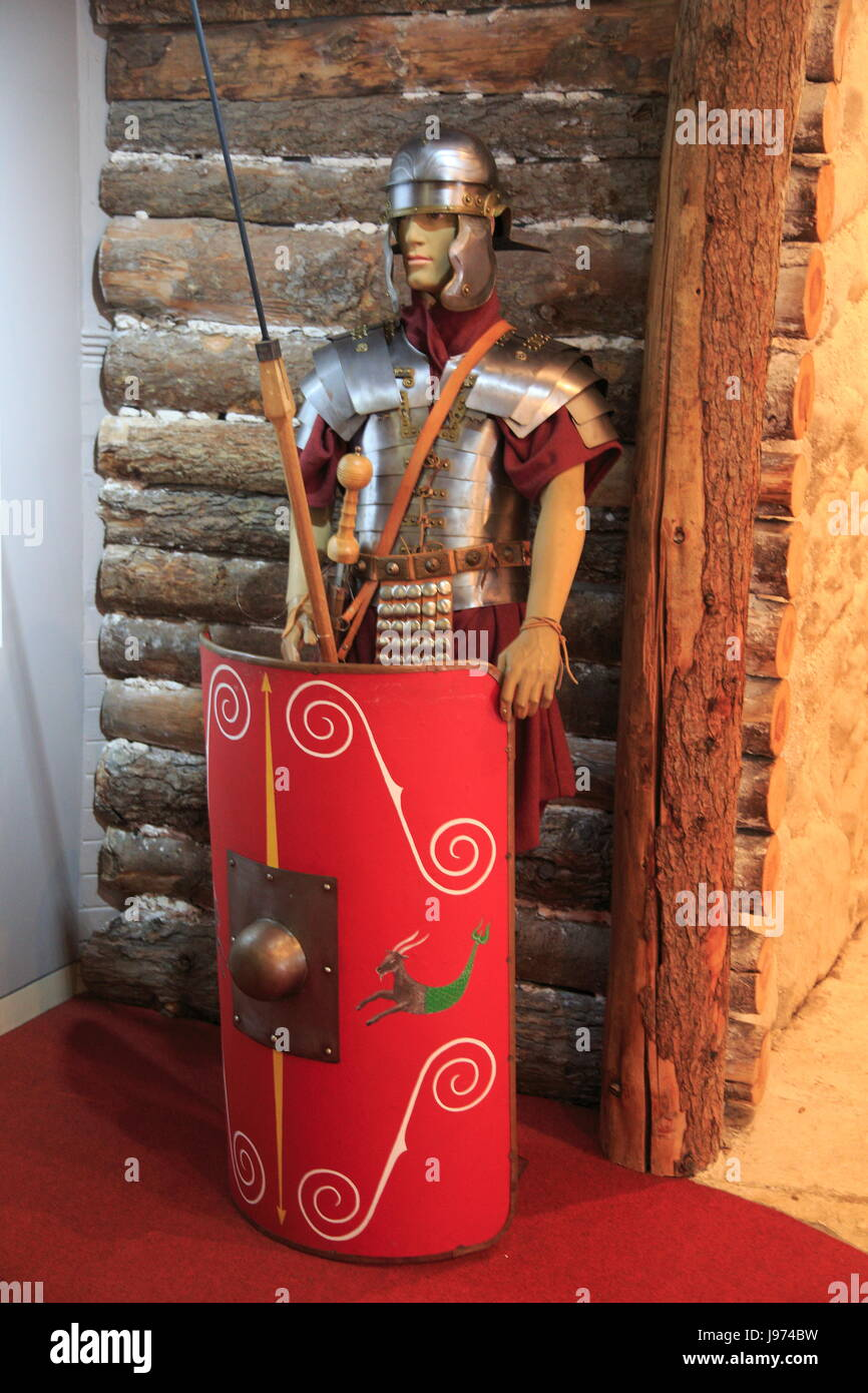 Roman soldier, Iron Age museum, Andover, Hampshire, England, UK - Stock Image