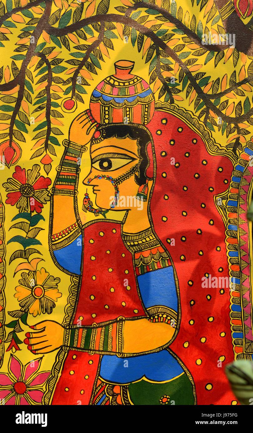 Madhubani Painting Stock Photos Amp Madhubani Painting Stock