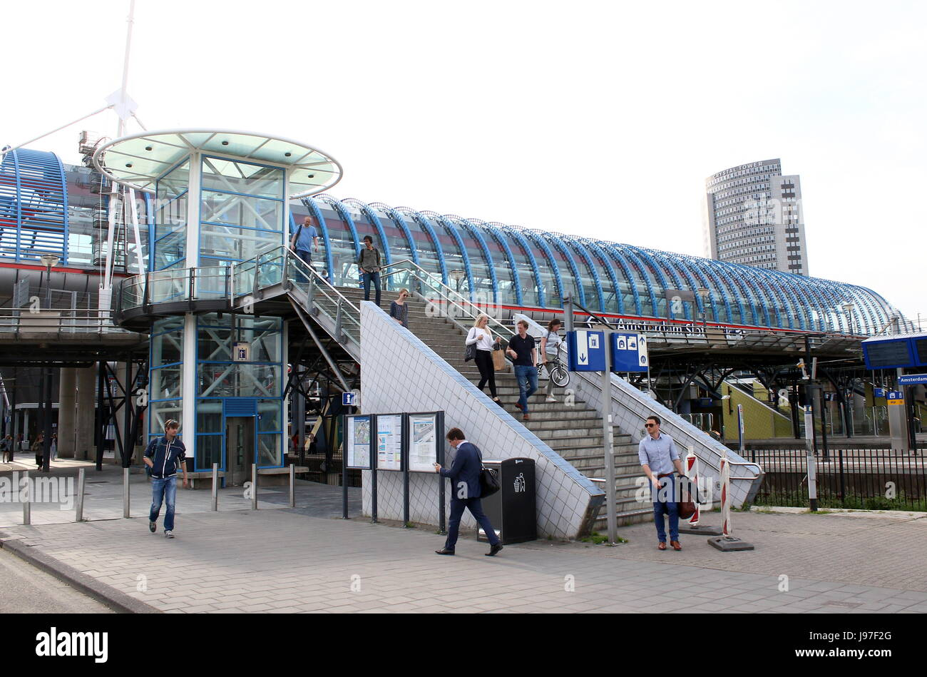 Large Sloterdijk Train Station, Amsterdam, Netherlands. - Stock Image