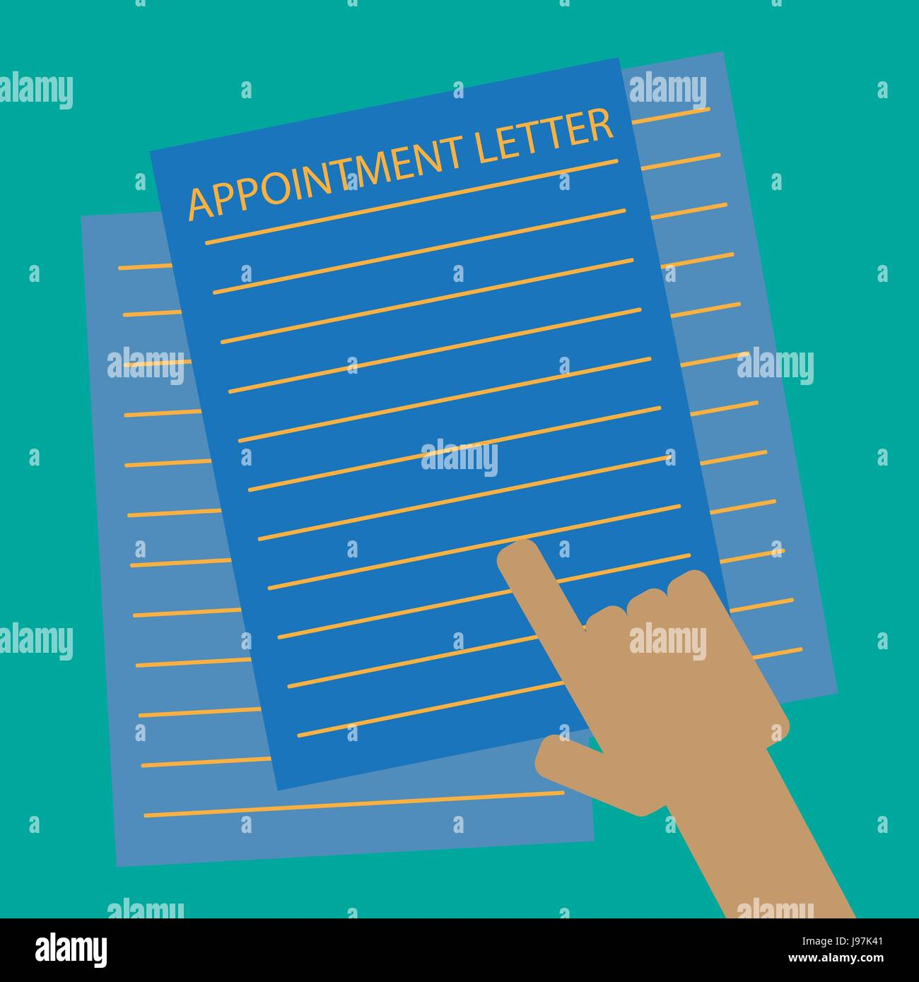 Appointment Letter checking - Stock Image
