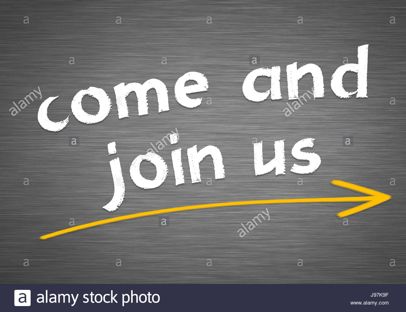 come and join us - Stock Image