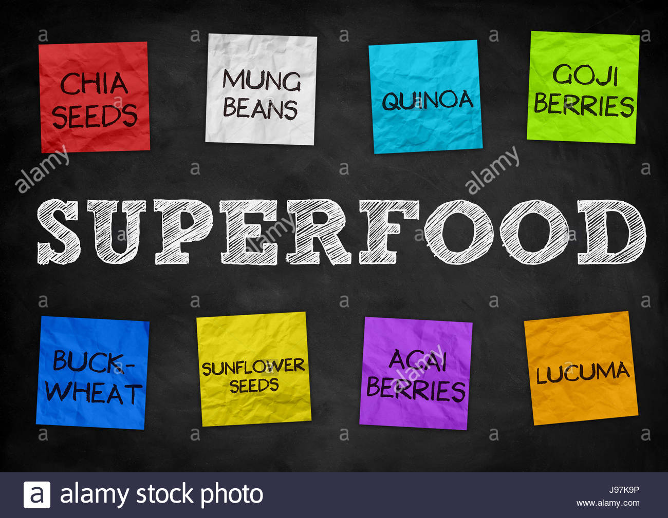 Superfood health nutrition - Stock Image