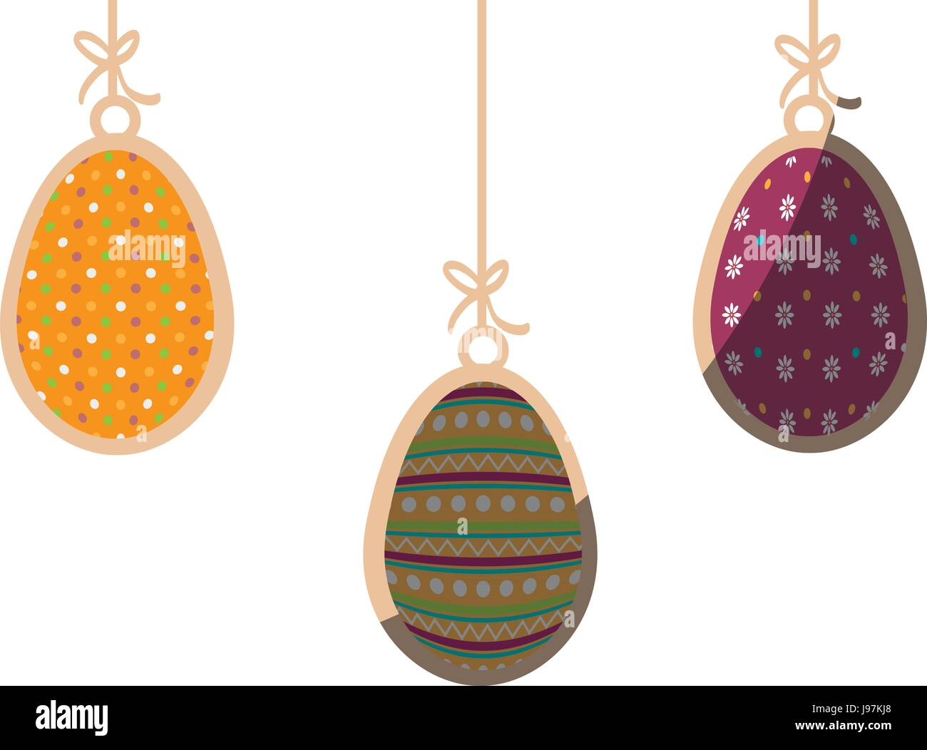 Eggs easter day - Stock Image