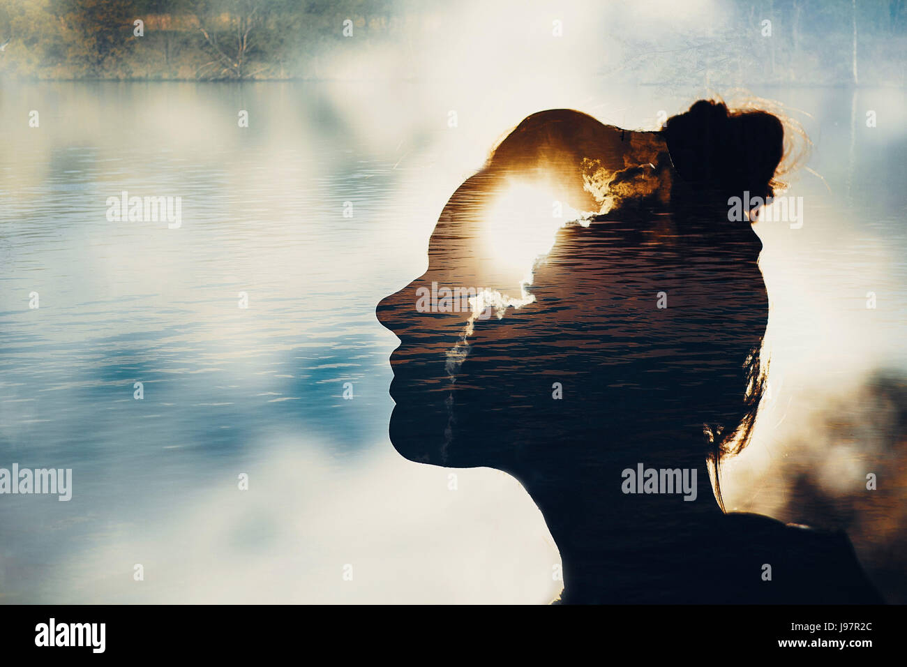 Conception of mind strenght and brain - Stock Image