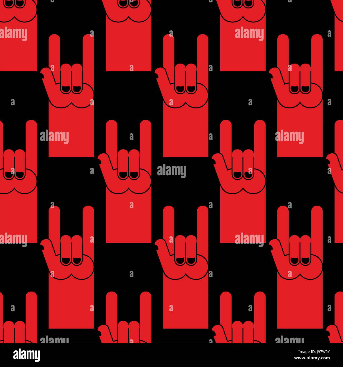 Rock Sign Red Devil Hand Stock Photos Rock Sign Red Devil Hand