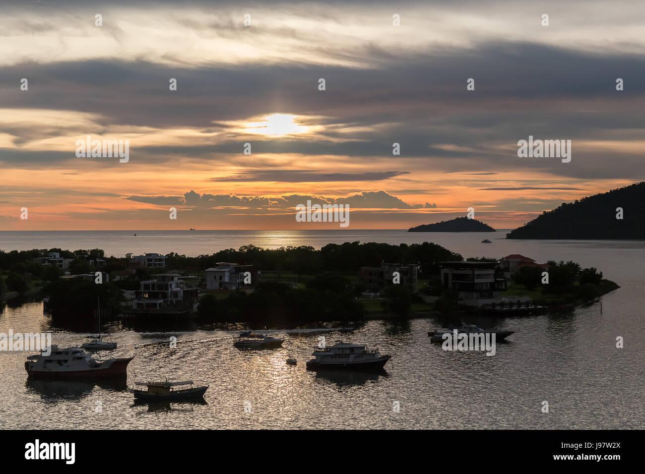 Sunset View at Kota Kinabalu, Sabah, Malaysia. - Stock Image