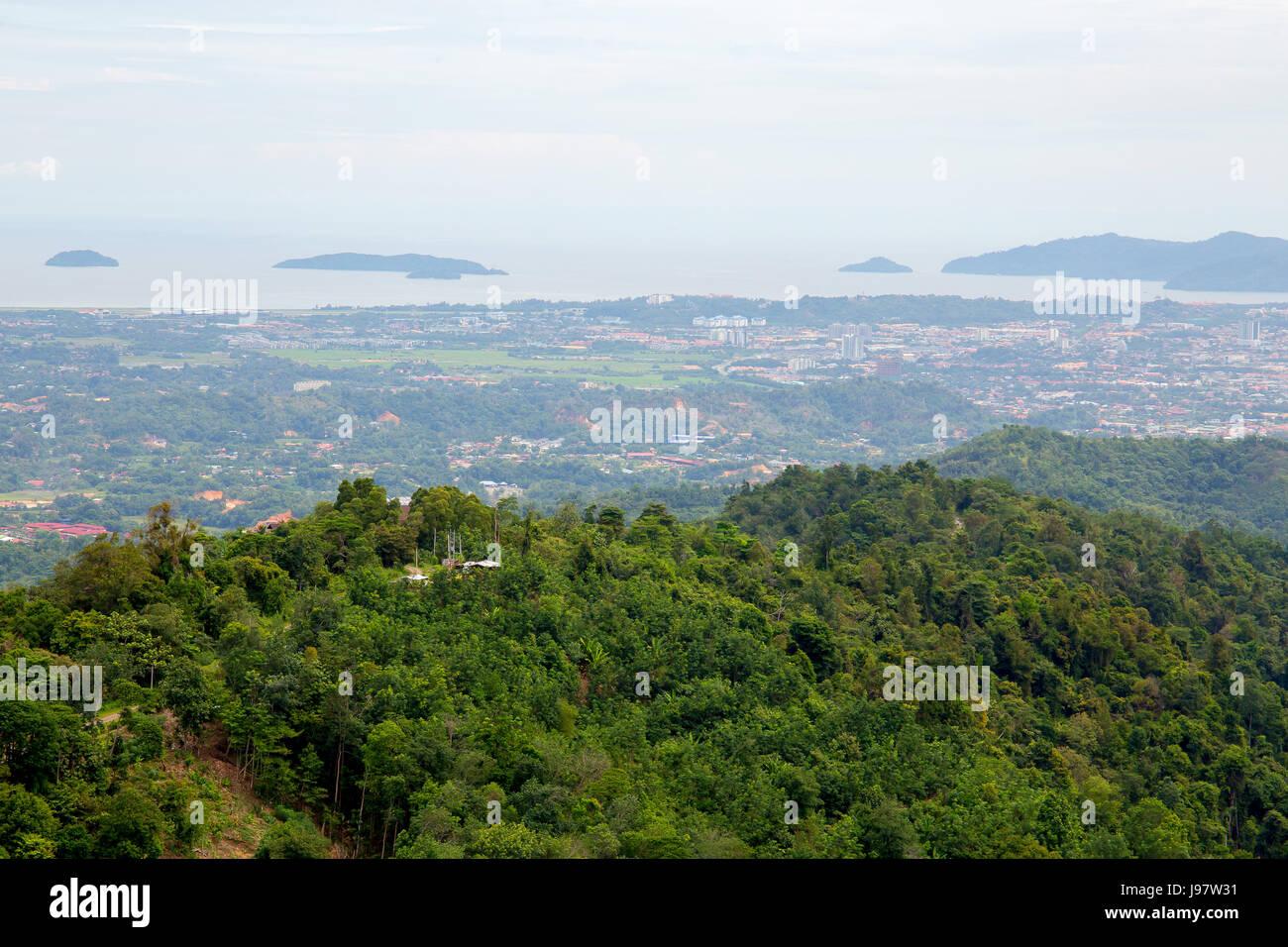 Aerial View of Kota Kinabalu, Sabah, Malesia. - Stock Image