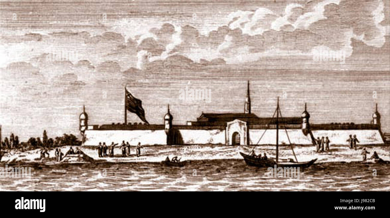 Novodvinskaya.krepost.1711 - Stock Image