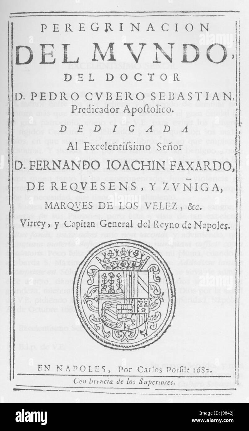 Peregrinacion del mundo 1682 - Stock Image