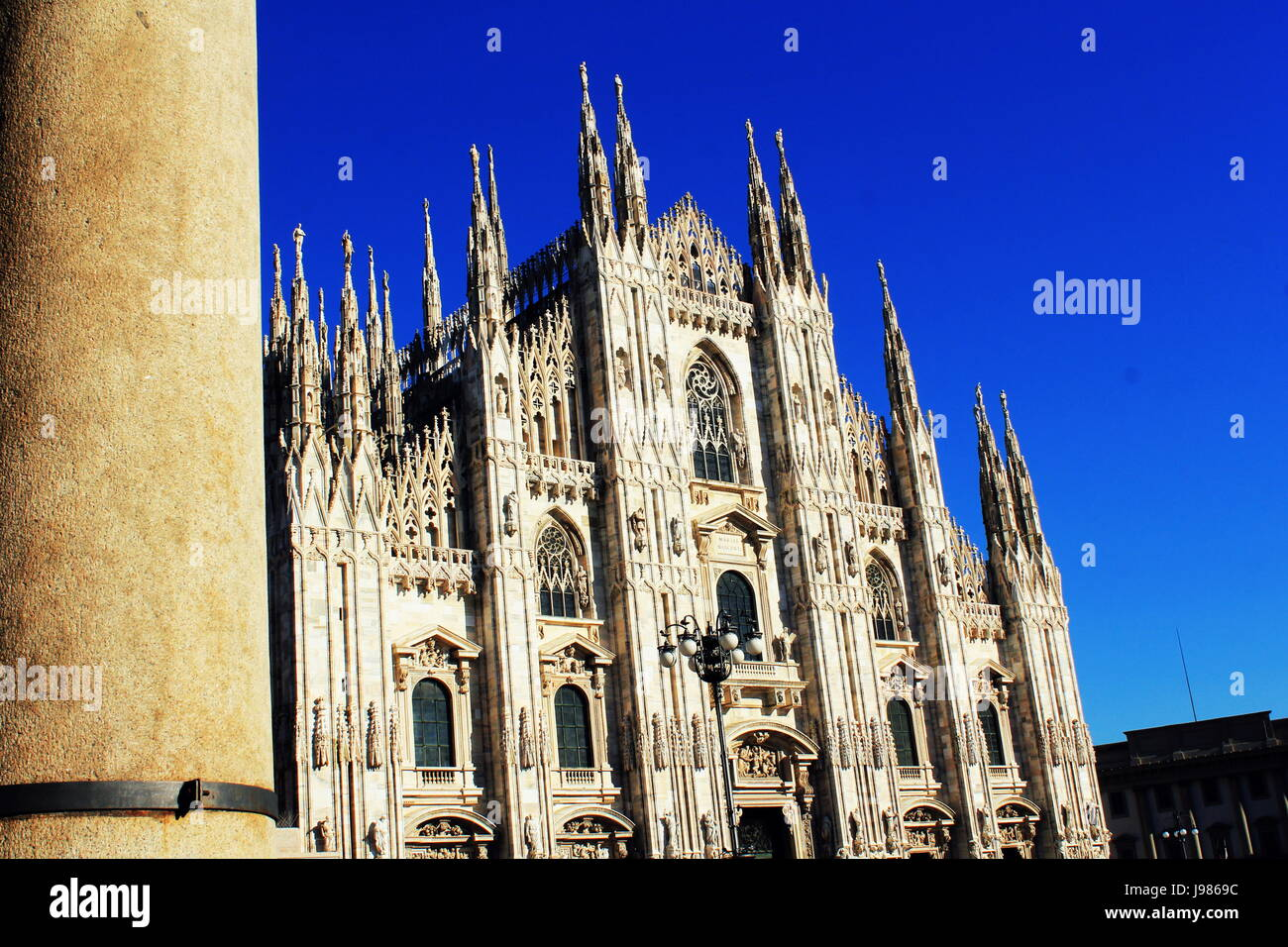 Milan Cathedral, Duomo di Milano, one of the largest churches in the world - Stock Image