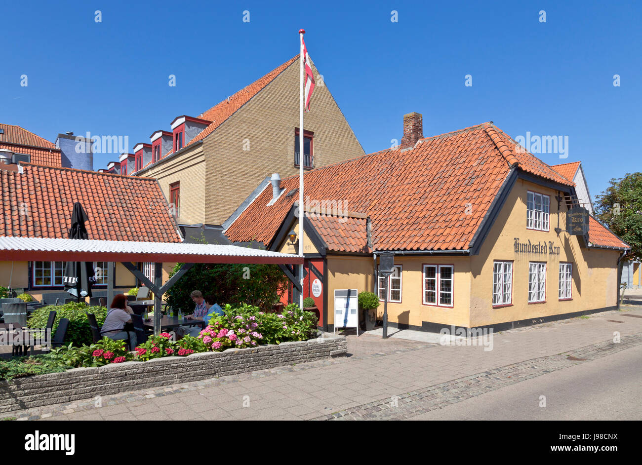 Hundested Inn and Hotel, Hundested Kro og Hotel, in Hundested n North Sealand - Stock Image