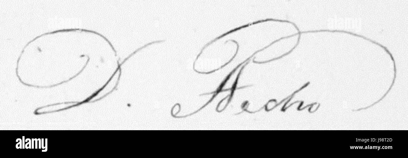 Signature of Emperor Pedro I of Brazil Stock Photo
