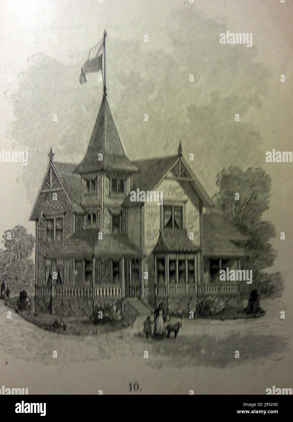 Schwedisches Holzhaus 1896 5 Stock Photo
